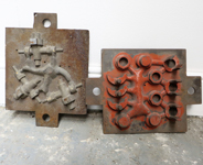 Red & Grey Foundry moulds